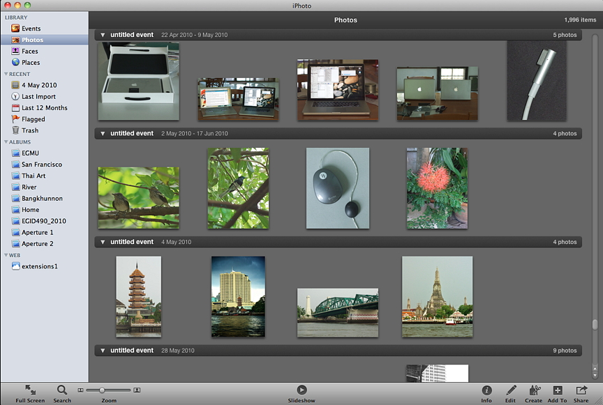 how to delete photos in iphoto library in imovie